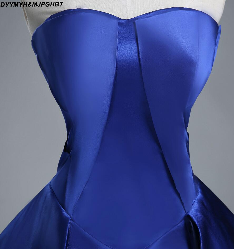 Real Image Corest Back plooi Bottom baljurken Royal Blue Prom - Jurken voor bijzondere gelegenheden - Foto 5