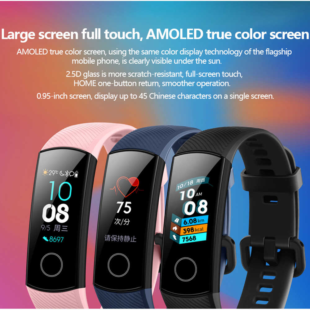 Original Huawei Honor Band 4 Smart Wristband Amoled Color 0 95