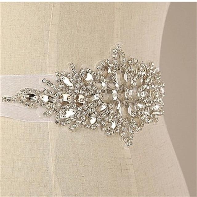 Ручной Роскошный Изысканный Блестящий Свадебный Sash Кристалл Rhinestone Cummerbunds Пояс Формальные Свадебное Вечернее Платье Ремни