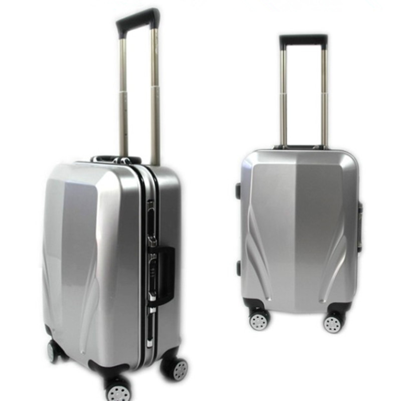 Business 20 24 inch Aluminum frame and rods PC TSA scratches travel trolley case rolling luggage bags suitcase with wheels bag