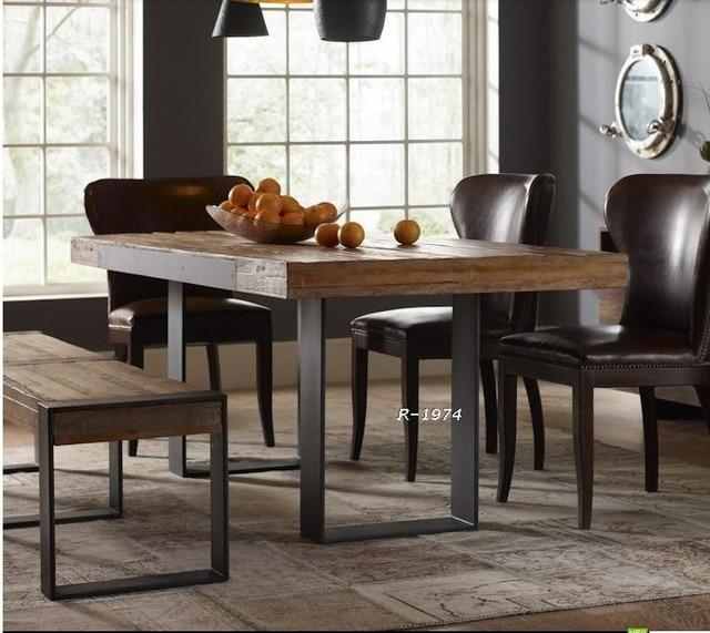 Muebles de madera maciza, madera de hierro forjado vendimia ...