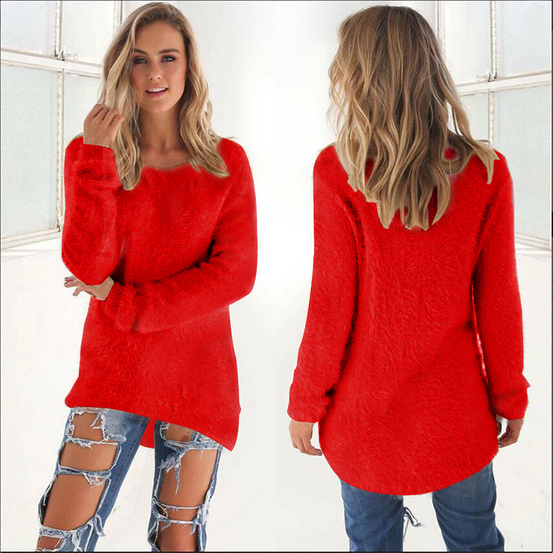 2019 Otoño Invierno suéter mujer jerseys de gran tamaño Jersey Casual negro jerséis Rosa caliente ropa femenina superior pull femme BDR87
