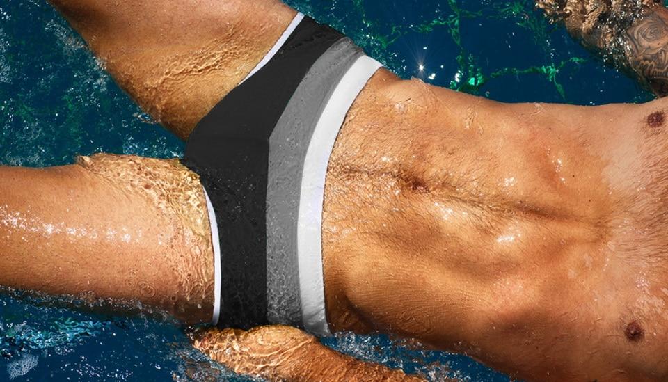 NEW Sexy Surf Swim Briefs Men Swimwear Men Shorts Beach Shorts Men Swim Shorts Board Surf Shorts Beach Swimming Trunks 207