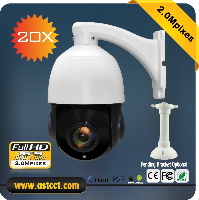 Free Shipping cheap MIni IP PTZ Camera 20X zoom IP Camera 2.0MP HD IR Speed Dome Camera with Night Vision 80m cctv IP camera
