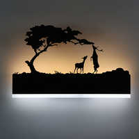 Modern LED Wall Lamp Creative Bedroom Beside Lamp Iron + Acrylic Materials Night Lighting Hotel Room Decoration Wall Light
