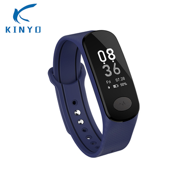 2018 Smart bracelet wristband Heart Rate Blood Pressure Monitoring ECG and PPG Detection Technology Remote care call alarm clock