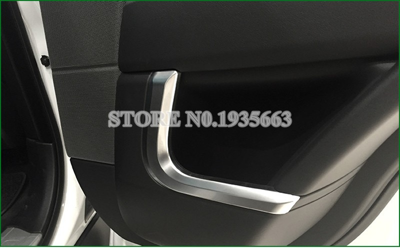 For Land Rover Range Rover Sport  Inner Car Door Panel Frame Cover Trim 2014-2016 4pcs for land rover range rover sport freelander 2 discovery 4 2006 2014 car styling led fog lights lamp crystal blue blue 12v