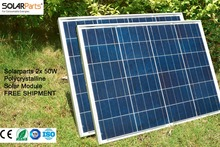 Solarparts 2x 50W Polycrystalline Solar Module by Poly solar cell factory cheap selling 12V solar panel