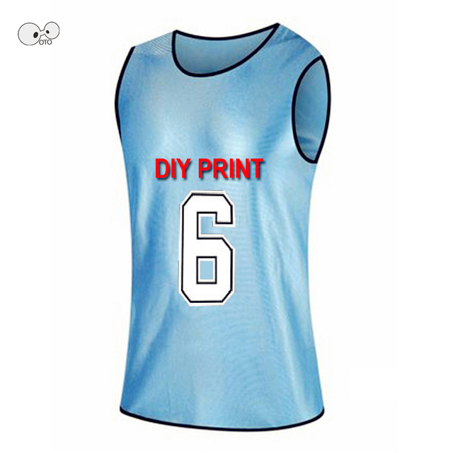 DIY Print New Team Training Scrimmage Vests Soccer Basketball Youth Adult Pinnies Jerseys Breathable Quick Dry Football Shirts