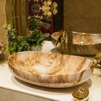European Style marbling ceramic art basin bathroom wash basin