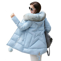 2017 Yeni kış ceket kadınlar uzun ceket kadın bayanlar palto Parka kürk yaka Pamuk Yastıklı Sıcak Ceket Yüksek Kalite Sıcak satış