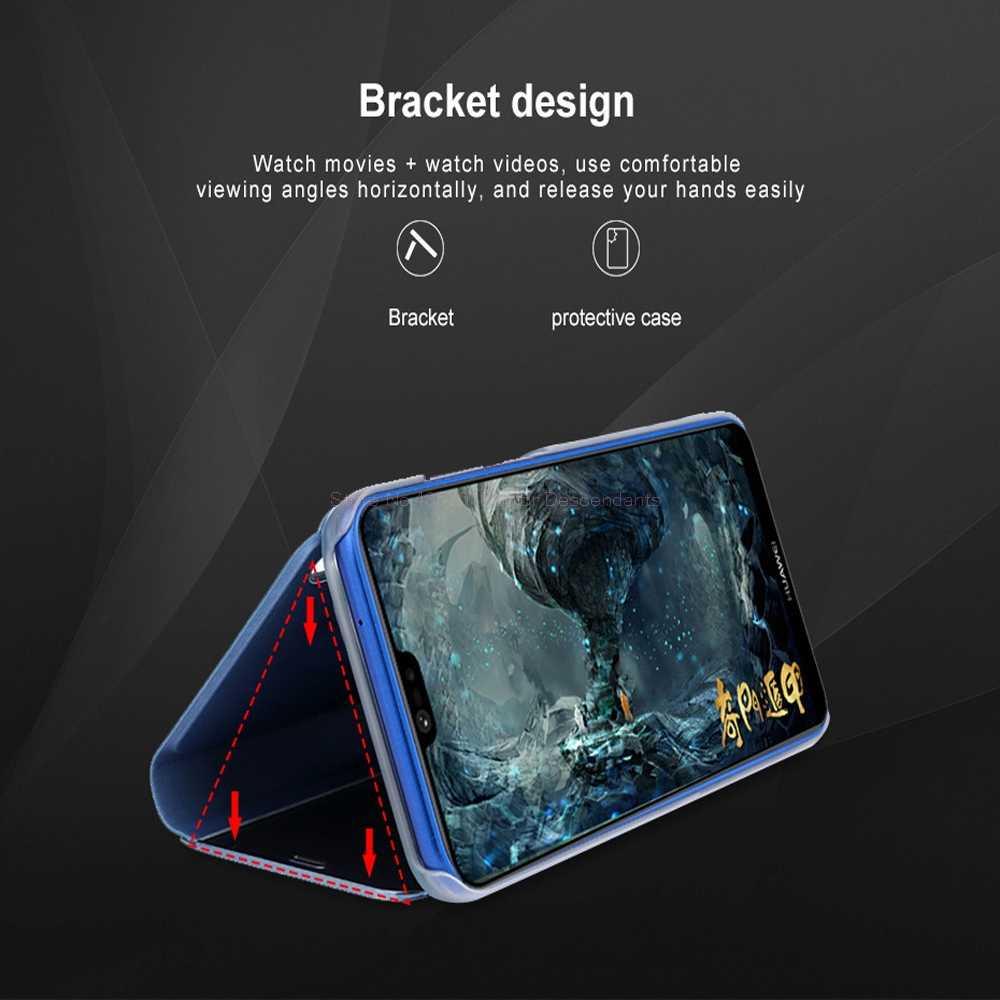 Зеркальный флип-чехол для huawei P20 P30 Lite Pro Y9 Y6 P Smart 2019 mate 20 lite чехол для Honor 20 10 9 Lite 8X 7A 7C чехол s