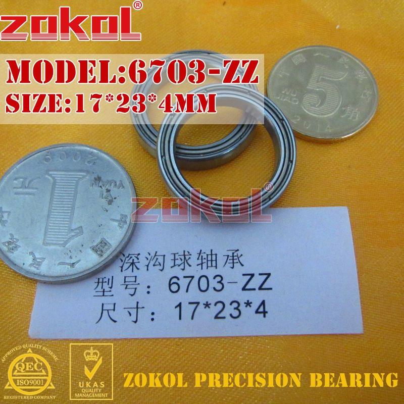 ZOKOL Bearing 6703 ZZ 1000703 Deep Groove Ball Bearing 17*23*4mm