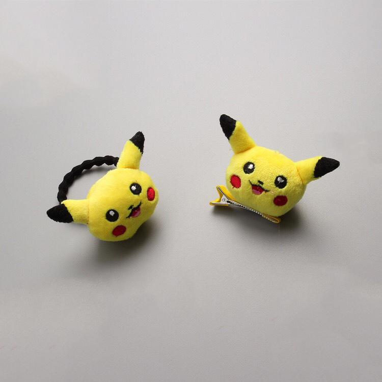 1 PCS  Newly Design Pikachu Hairpins Children Headdress Girls Hair Clips Headwear Baby Hair Accessories