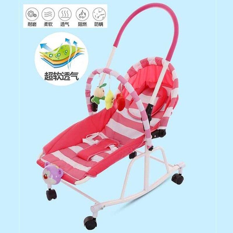 Multi-fonction nouveau-né bébé chaise berçante berceau bébé marcheur poussette bébé videur chaise chaise longue bébé balançoire fauteuil roulant 0-19 M - 5