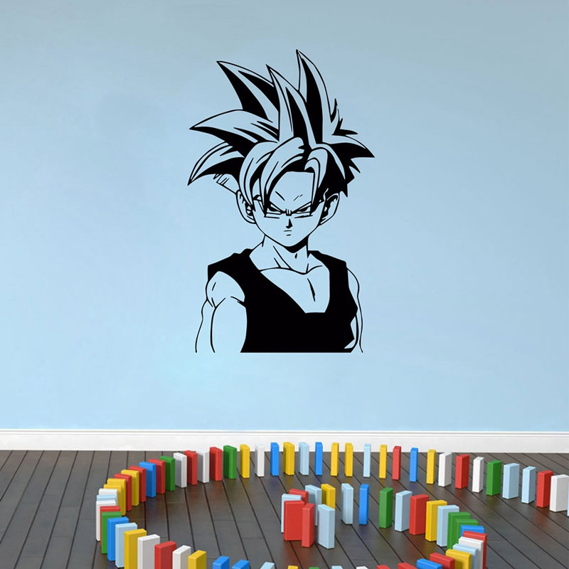 Dragon Ball japanese anime Character Trunks Wall Decal Bedroom Teen Room Anime fans Decorative Vinyl Wall Sticker LZ11-in Wall Stickers from Home & Garden