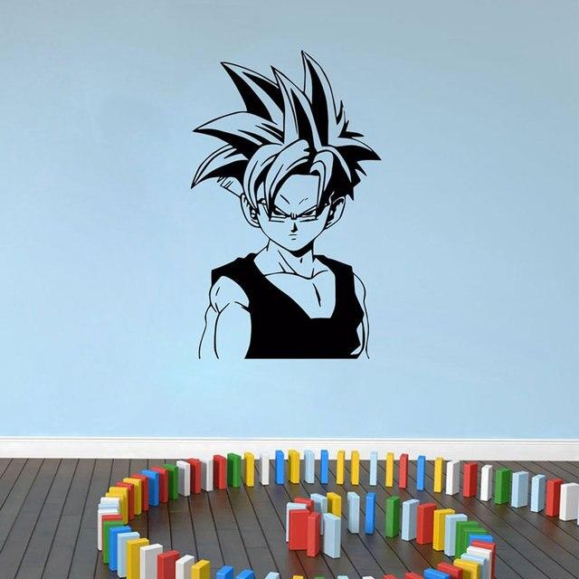 ドラゴンボール日本アニメキャラクタートランクス壁デカール寝室ティーンルームアニメファン装飾ビニール壁ステッカー LZ11