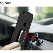 цена на SYRINX Holder For Phone Finger Ring In Car Mobile Stand For iPhone X 8 7 6s Samsung s9 Smartphone Magnetic Magnet Auto Support