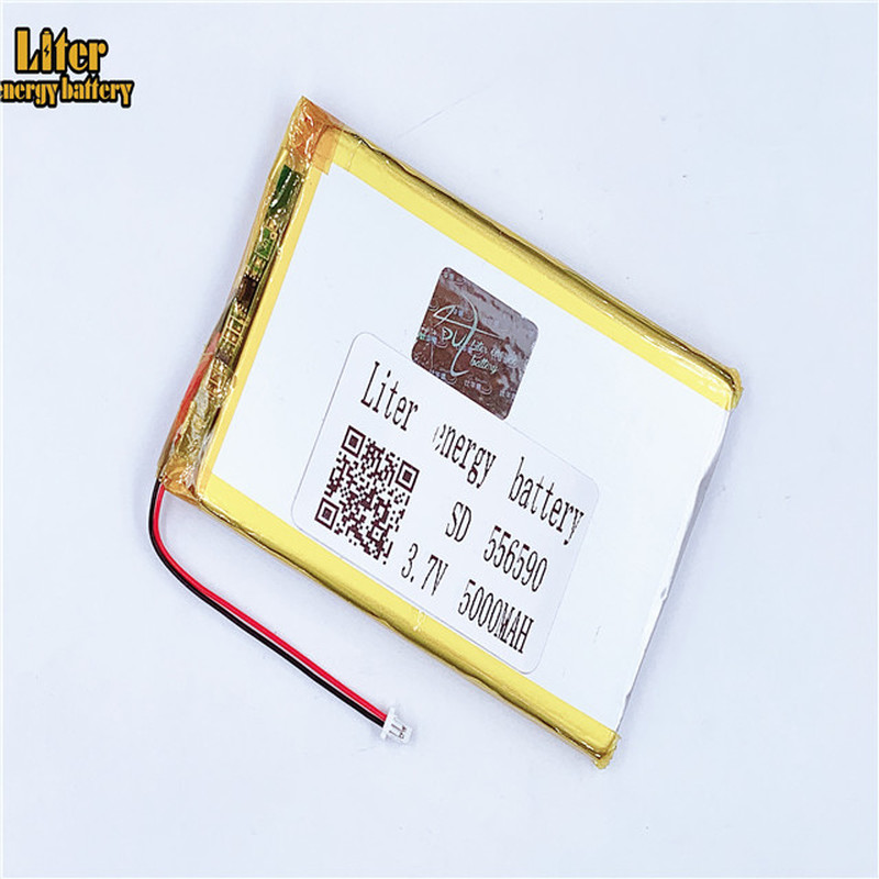 1.0MM 2pin connector 556590 <font><b>3.7v</b></font> <font><b>5000mAh</b></font> e-books GPS PDA <font><b>lipo</b></font> <font><b>Battery</b></font> lithium polymer rechargeable Tablet PC <font><b>Battery</b></font> image