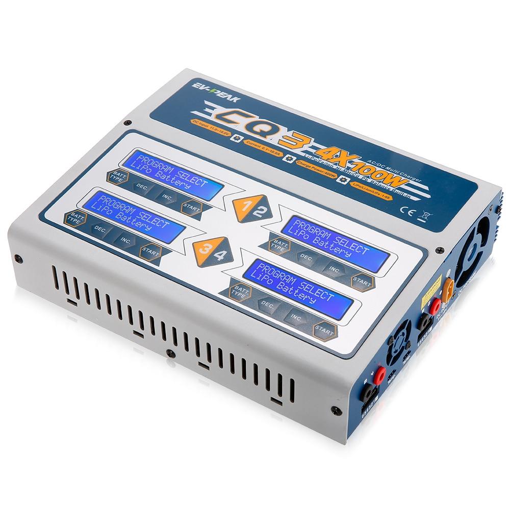 CQ3 100W 10A 1 6S AC100 240V D C11 0V 18 0V Balance Charger RC Charger