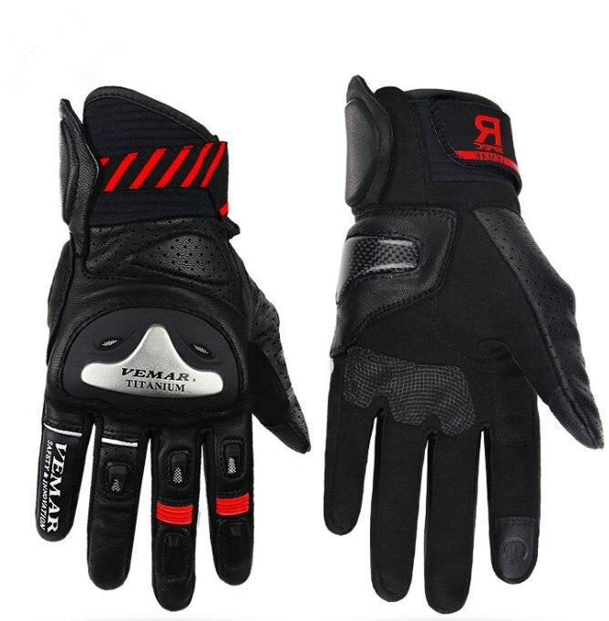 Бесплатная доставка, мотоциклетные перчатки, мужские кожаные защитные гоночные перчатки, перчатки для мотокросса, 4 цвета, размеры M L XL XXL