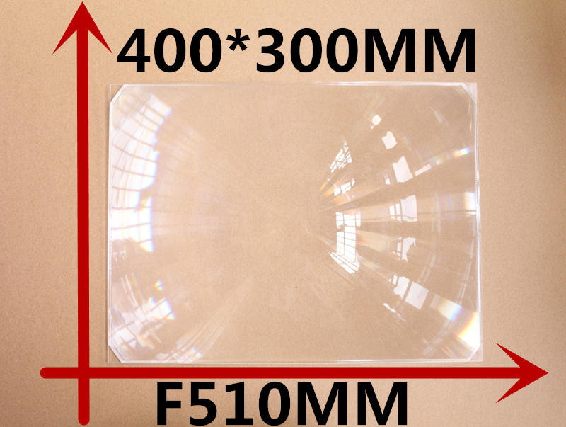 все цены на 1 Pcs/lot DIY projector Rectangle Fresnel Lens 400*300MM Focal length 510mm concentrated lens Lines from 0.4mm fresnel lens онлайн