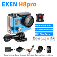 100% Original Ultra HD 4K/30fps 1080P/120fps Sport Action Camera Ambarella A12 EKEN H8 PRO Go Pro Style With Remote Dual Screen