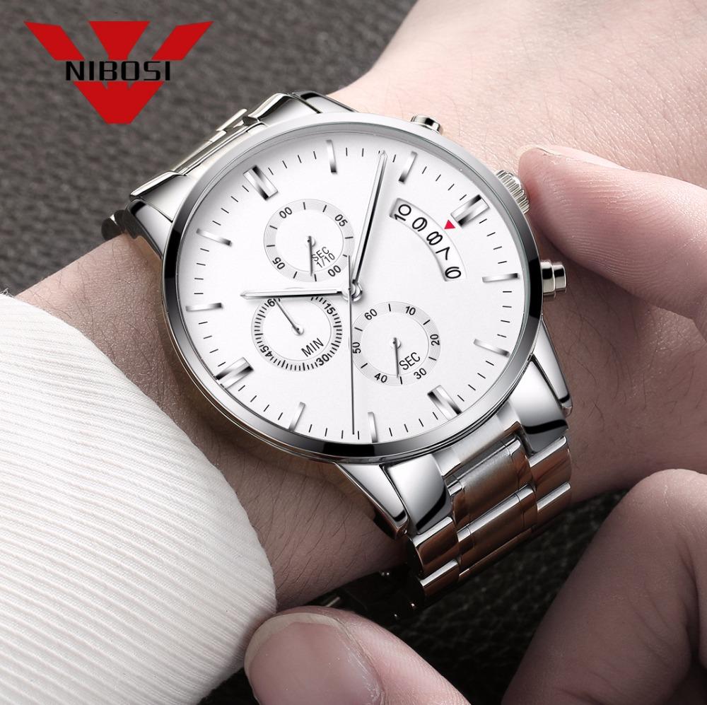 Relojes de hombre NIBOSI Relogio Masculino, relojes de pulsera de cuarzo de estilo informal de marca famosa de lujo para hombre, relojes de pulsera Saat 23