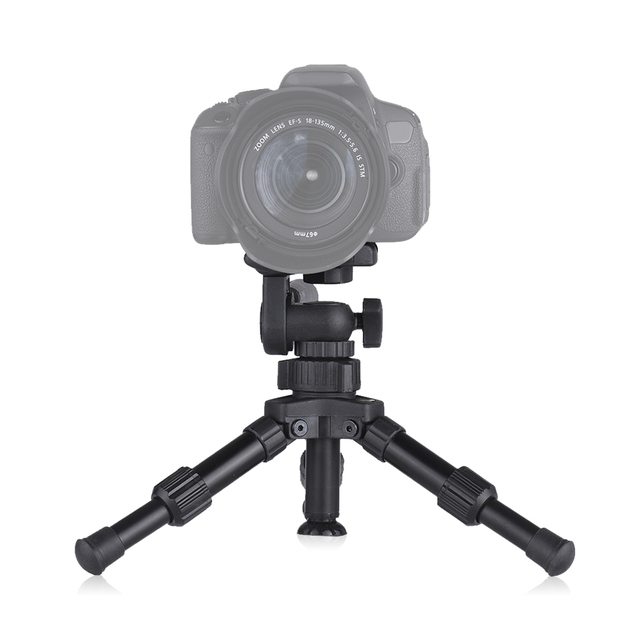 XILETU XB-2 Mini Tabletop Tripod Flexible Portable For DSLR Nikon Digital Camera with Three Dimensional Panoramic Tripod Head 4