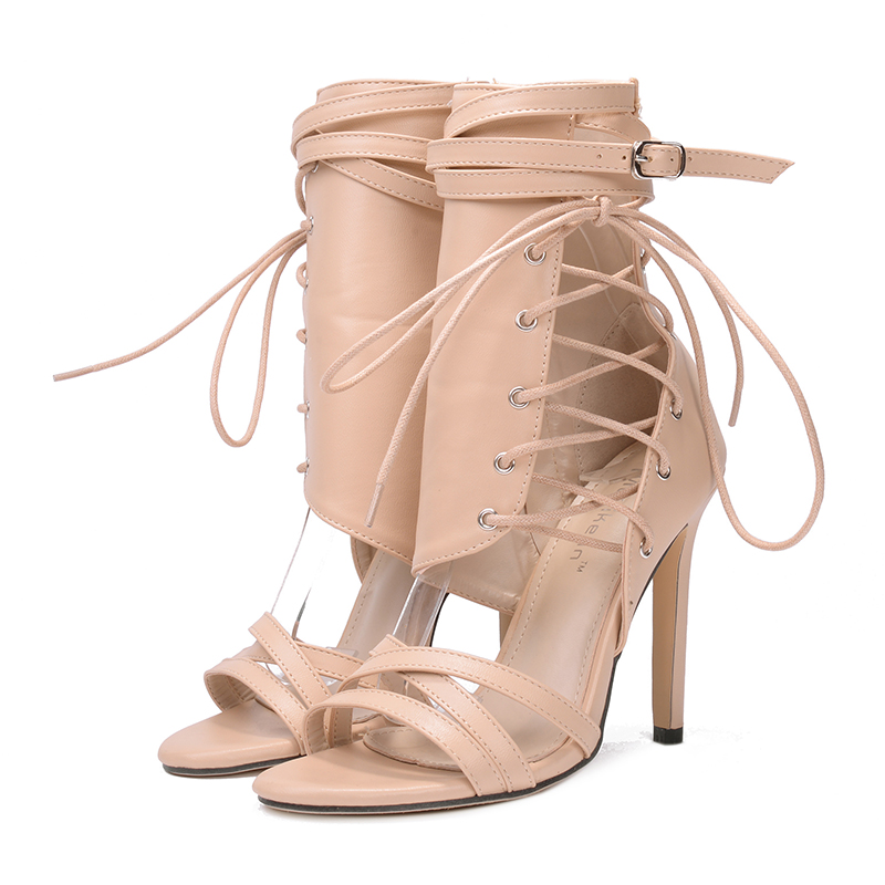 black De Grandes Tobillo Correa Para Mujer Moda Fiesta 2018 Zapatos El Sexis Tacón Mujer Verano Alto 43 Beige Tallas 35 Sandalias Gladiador 1BTdqCBx
