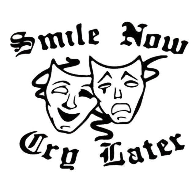 10cm8cm Smile Now Cry Later Creative Fun Vinyl Window Decals Car