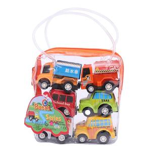 Image 3 - 6pcs Pull Back Car Toys Car Children Racing Car Baby Mini Cars Cartoon Pull Back Bus Truck Kids Toys For Children Boy Gifts GYH