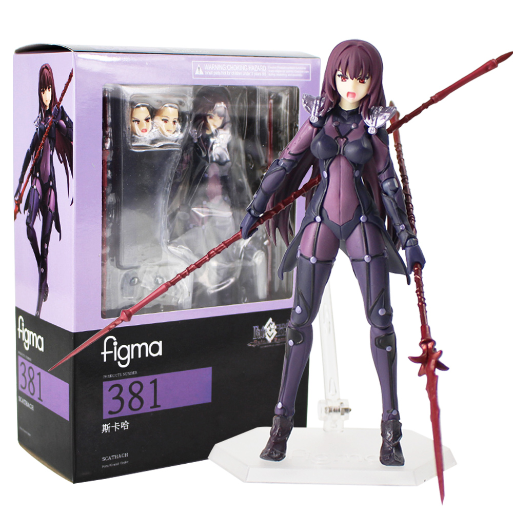 Fate Grand Order Scathach Action Figure Figma 390 Servant Scathach FGO Collectible Model ToyFate Grand Order Scathach Action Figure Figma 390 Servant Scathach FGO Collectible Model Toy
