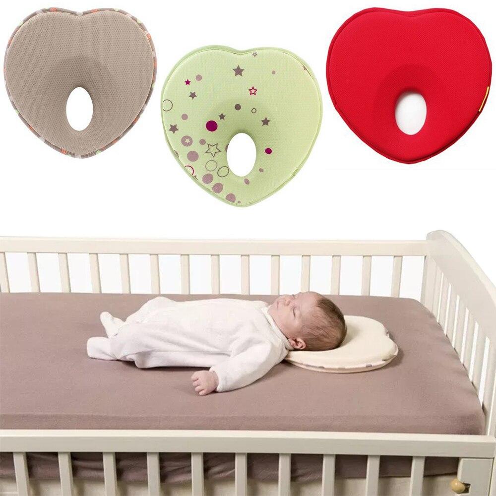 New Baby Pillow Infant Toddler Sleep Positioner Anti Roll Cushion Flat Head Pillow Protection Newborn Head Neck Almohadas Bebe