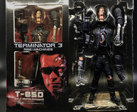 NECA Terminator 2 T 800 Qenisys Arnold Schwarzenegger doll battle damage 18inch movable T800 action figure doll soldier