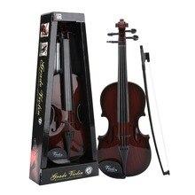 48 см детская акустическая скрипка с Чехол с бантом студенческий обучающий музыкальный инструмент настоящая струнная Детская образовательная скрипка подарки