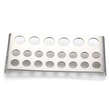 Stainless Steel Shelf Stand Tip Supply Tools 22 Holes Tattoo Pigment Ink Cap Cup Holder Body Beauty