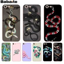 f24a5e162a1726 Babaite Black Snake Skull Back phone Cover Soft TPU Cases for Apple iPhone  8 7 6