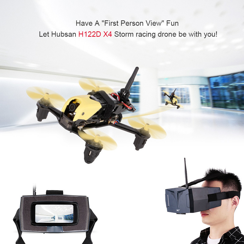 (Goggles Version) Hubsan H122D X4 Strom FPV RC Camera Drone Quadcopter With 720P Camera /HV002 Googles Compatible Fatshark (Goggles Version)