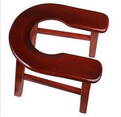 Бытовые Деревянный горшок П-образный удобный стабильный старики комод стул из массива дерева подвижный беременная женщина горшок