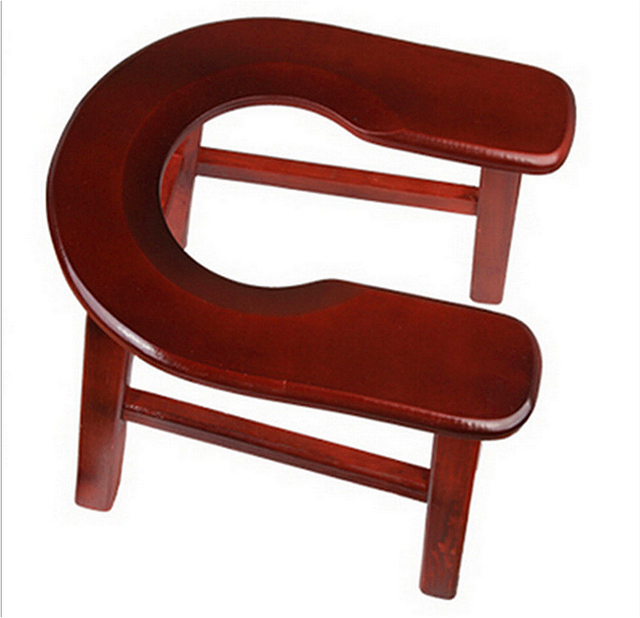 Wooden Potty Chair Dining Covers In Spanish Household Stool U Shaped Convenient Stable Old People Commode Solid Wood Movable Pregnant Woman
