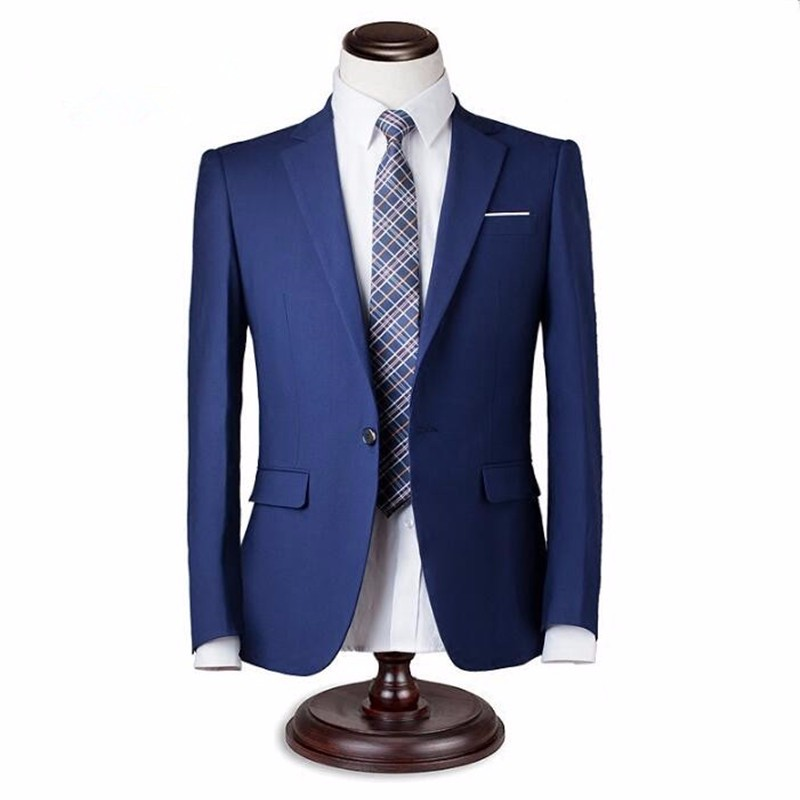 9.1Men suits jacket custom made groom tuxedos jacket one button solid color handsome wedding groomsman suits jacket