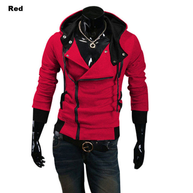 Stylish Assassins Creed Hoodie Men's Cosplay Assassin's Creed Hoodies Cool Slim Jacket Costume Coat Big Size 4