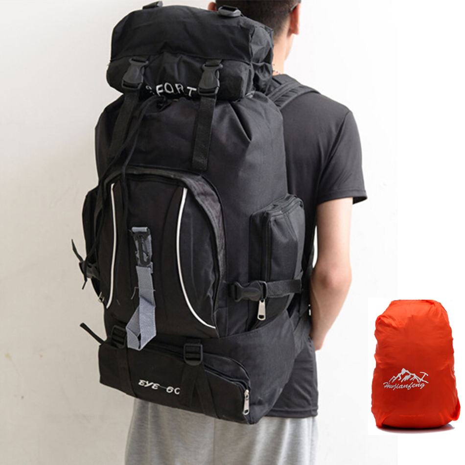 80L Large Capacity Outdoor Outdoor Bags Travel Sports Mountaineering Camping Hiking Climbing Bag Multifunction Backpack цена