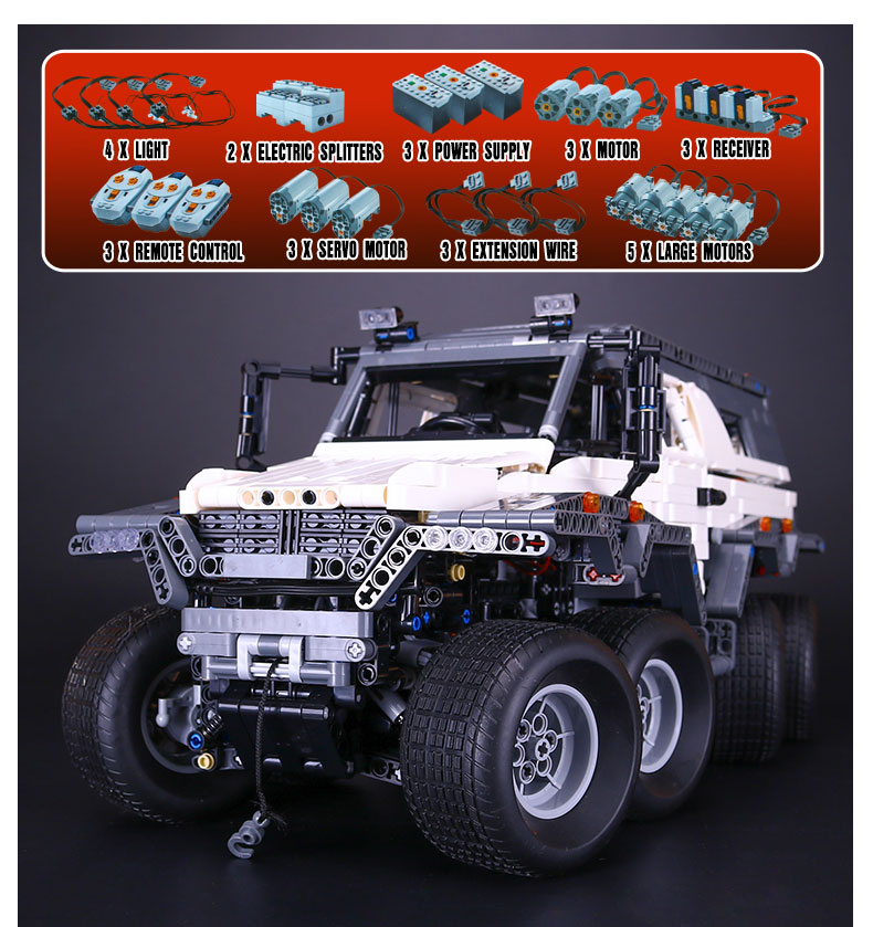 LEPIN 23011 2959pcs Technic Series Off-road Vehicle Model Building Kits Block Bricks Educational Toys for Children gifts 5360 1 18 scale red jeep wrangler willys alloy diecast model car off road vehicle model toys for children gifts collections