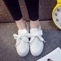 2017 mulheres altura crescente sapatos estudantes sapatos brancos sapatas de lona lace up moda casual senhora sapatos plus size preto