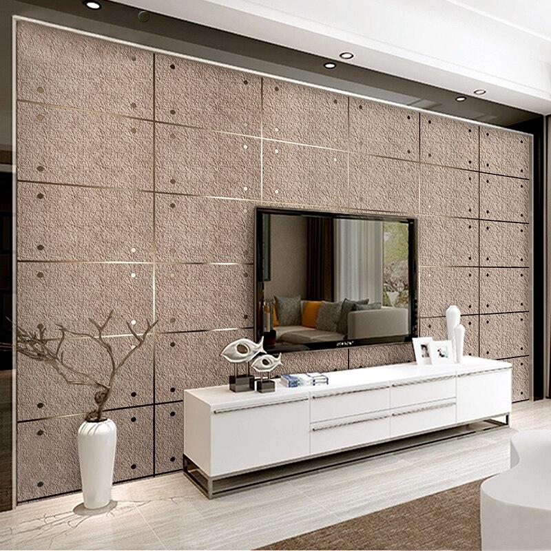Mode moderne 3D Imitation marbre treillis daim Non-tissé papier peint décor Restaurant salon TV fond papier peint épais