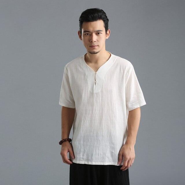 d5e0d8808e7d 2018 New Summer Style Mens Short Sleeve Linen T shirt Half Sleeve T-shirt  men fashion t shirt wholesale Plus Size M-4XL 5XL 6XL