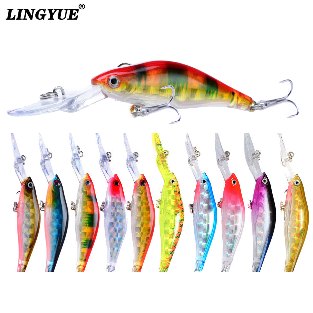 1pcs Fishing Lures 9cm/7g Minnow Lures 5 Colors Available Bass Crankbait Wobblers Fishing Tackle Lifelike Fake Fish bait Pesca