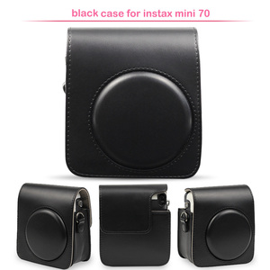 Image 3 - Protective PU Leather Classic Camera Case Bag with Shoulder Strap, Compatible for Fujifilm Instax Mini 70 Instant Camera
